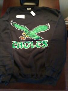 Vintage Philadelphia Eagles Sweatshirt 1995 SIze XL TULTEX NOS New Kelly Green