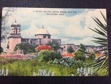 POSTCARD UNUSED LINEN TEXAS, SAN ANTONIO-MISSION SAN JOSE 2nd MISSION BUILT 1720