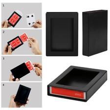 Fun Poker Vanishing Case Amazing Playing Card Magic Poker Disappearing Box PRO#