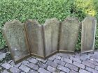 Antique ALL BRASS Large FOLDING Fireplace Screen InsertVintage Architecture
