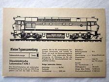 DDR Kleine Typensammlung Schienenfahrzeuge - Dieselelektrische Lokomotive T478.1