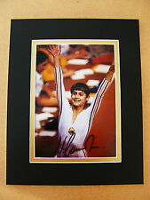 NADIA COMANECI HAND SIGNED AUTOGRAPH 10X8 PHOTO MOUNT OLYMPIC GYMNASTICS & COA