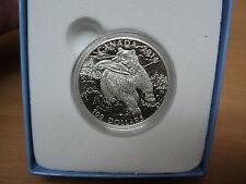 2014 Canada $100 1 Oz Fine Silver Coin-Grizzly Bear