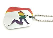 Pride Shack - Hot Girl Rainbow Lesbian / Gay Pride LGBT Pendant Necklace Dog Tag