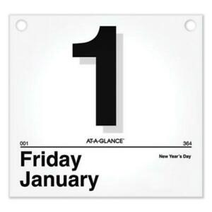 At-A-Glance K450 Today Is Daily Wall Calendar Refill, 8.5 X 8, White, 2022