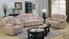 Beige Brown Fabric Material Manual Recliner Reclining Sofa Suite Dorset 311 3 Seater 2 Seater Chair