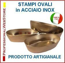 10 STAMPI CLASSICI + 10 STAMPI MIGNON PASTICCIOTTO LECCESE OVALI in ACCIAIO INOX