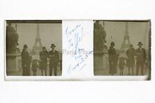 La visite de la Tour Eiffel Photo Amateur Plaque de verre stereo