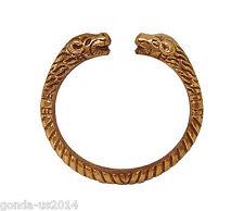 copper color heavy metal lion face bracelet for men
