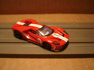 TOMY AFX H.O. SCALE SET ONLY SLOT CAR FORD GT #1 RED WHITE STRIPES NEW
