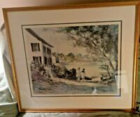 RAY ELLIS DOUBLE SIGNED LITHOGRAPH KINGDOM BY THE SEA MARTHA'S VINEYARD 1988