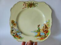 Sunshine Ware 1940s Dinner Plate, Deco J & G Meakin SOL English Display Plate
