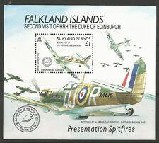STAMPS-FALKLANDS. 1991. Royal Visit (Spitfires) Miniature Sheet. SG: MS628. MNH.