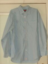 UNTUCKit L/S SHIRT BUTTON FRONT Size XL 100% COTTON Blue & White Stripe