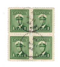 CANADA SCOTT 249 USED BLOCK AU 11 43 CIRCLE CANCEL