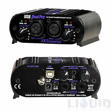 ART USB Dual Pre Project Series 2 channel Mic Preamp Amp NEW FREE 2-DAY SHIPPING