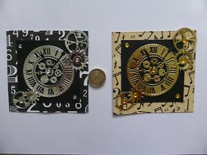 4 Large Fancy Clock  card toppers Grandad Men Dad Son Birthday Father Teenager 1