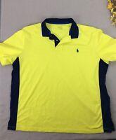 Polo Ralph Lauren Polo Shirt Short Sleeve Collar Yellow Blue Mens XXL