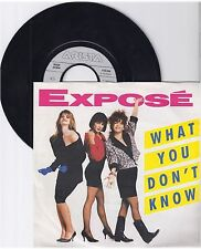"""Expose, What you don't know, VG/VG,  7"""" Single 0999-70"""