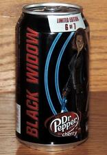 "2015 USA DR PEPPER CHERRY MARVEL AVENGERS AGE ULTRON ""BLACK WIDOW"" 12oz FULL CAN"