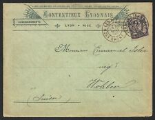 France 100 on Advertising cover to Switzerland, 1896