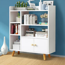 Modern White Cube Wooden Bookcase Shelving Display Storage Shelf Unit Bookshelf
