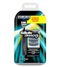 Gillette Mach3 Nassrasierer + 3 Rasierklingen /100% Original