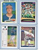 1989 Topps John Smoltz Atlanta Braves #382 Rookie Baseball Card Six Bonus Cards