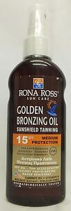 Rona Ross Golden Bronzing Oil Sunshield Tanning SPF 15 (160ml)  EXPRESS P&P