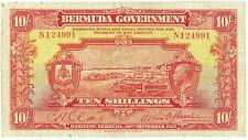 Bermuda 10 Shillings KGV dated 1927 Pick 4  VF