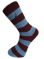 Hortons Classic Old School Retro Cotton Striped Dress Socks Football Rugby Style
