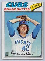 "1977  BRUCE SUTTER - Topps ""ROOKIE"" Baseball Card # 144 - CHICAGO CUBS"