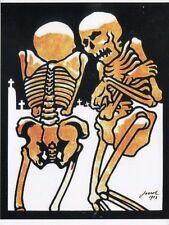 Post Karte von Skelette in Friedhof Lachender