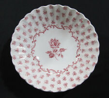 12 J & G MEAKIN ENGLAND Classic White Coupe Cereal Bowls 'CHANTILLY' Pink Roses