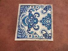 "Needlpoint Tapistry Complete Ready to Frame etc Blues White 15.75 x 15 1/2"" WOW"