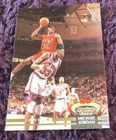 1992 Topps Stadium Club #1 Michael Jordan Dunking Over Ewing HOF Warran 10 🔥