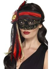 Baile De Máscaras pirata Antifaz lujo Mujer Piratas Antifaz Disfraz