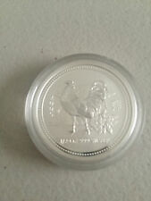 2005 YEAR OF THE ROOSTER 1/2 oz SILVER BULLION COIN IN CAPSULE