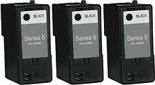 3-pk For Dell Series 5 J5566 Black Ink Cartridge for 946 962 964 Printers
