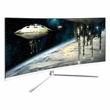 VIOTEK GN34C 34in Ultrawide QHD Curved Professional Monitor - Black/White