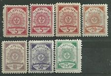 Latvia Variety 1920 Mi46/50 Saules Zimejums MH/MNH # An143