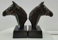 Metal horse bookends