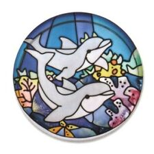 Joan Baker Designs Paperweight Nautical Painted Glass Swimming Graceful Dolphins