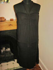 FULL CIRCLE Grecian little black DRESS new 12 RP£60 Lolita LBD