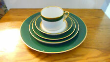 "FITZ & FLOYD ""RENAISSANCE"" DARK GREEN, 5 PLACE SETTING, MADE IN JAPAN"