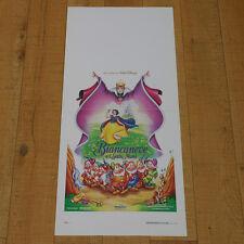 BIANCANEVE E I SETTE NANI locandina poster Snow White And The Seven Dwarfs T80
