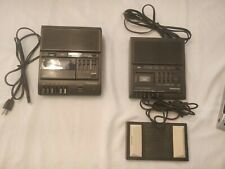 Panasonic Microcassette Transcriber With Foot Pedal Model Rr-930 and Rr-830