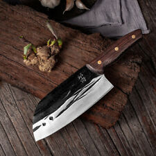 Handmade Forging Cleaver Chinese Butcher & Chopping Kitchen Knife Cooking Meat