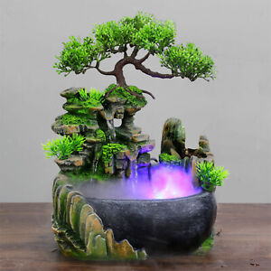 Table Waterfall Fountain Rockery Zen Statue Water Fountains Ornament Gifts