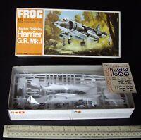 1960s Vintage FROG Hawker Siddeley Harrier G.R.Mk.I VTOL Jump Jet 1:72 Scale